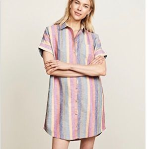 Madewell Striped Shirtdress